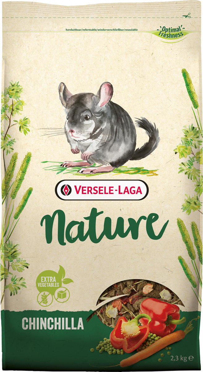 Корм сухой Versele-Laga Nature Chinchilla, для шиншилл, 2,3 кг