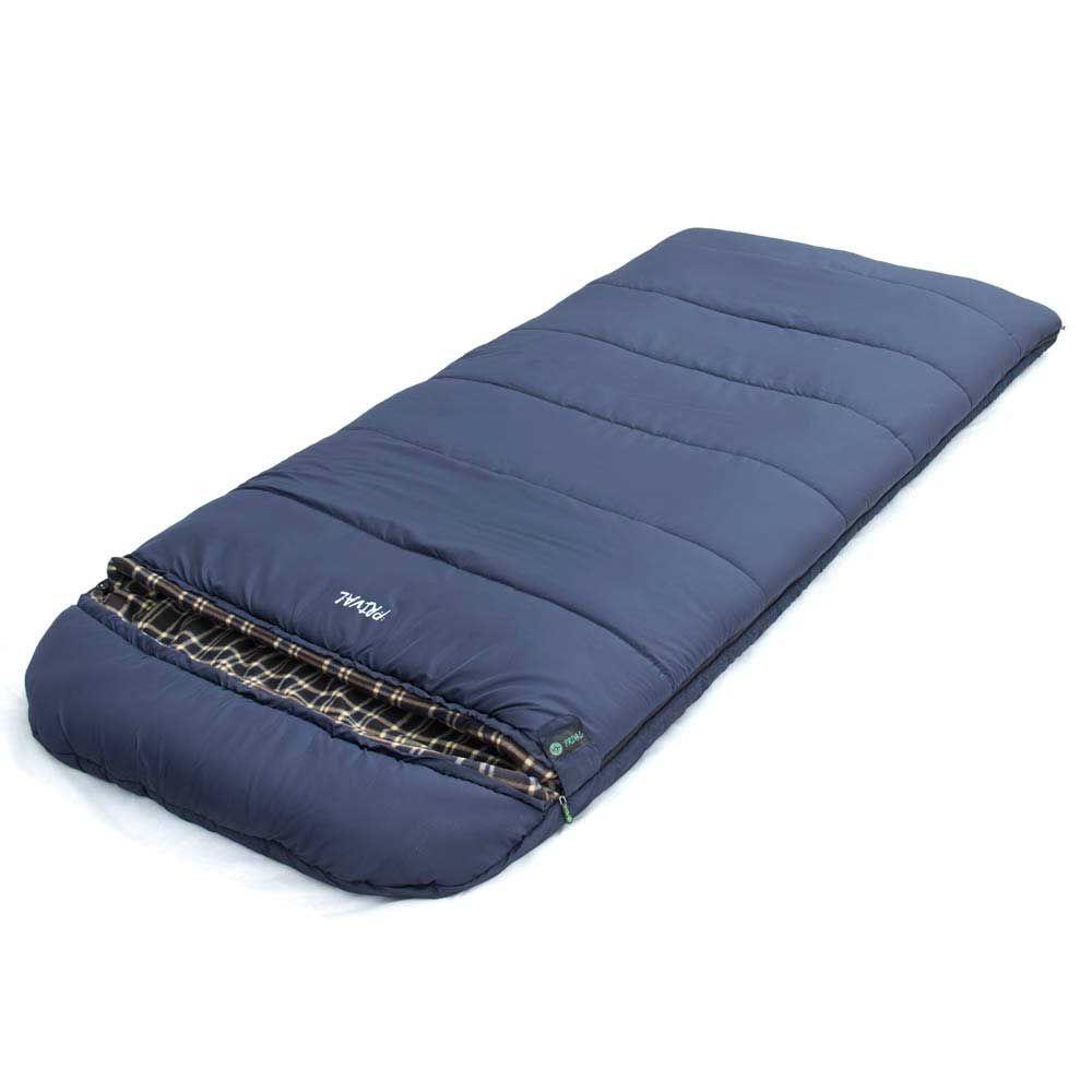 Спальный мешок Prival Северный, темно синий, левосторонняя молния, 220х95 см цена