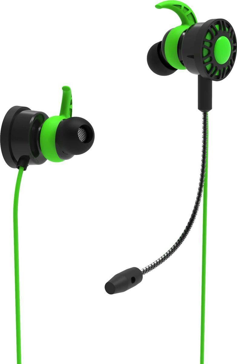 Наушники Ritmix RH-250M, black, green