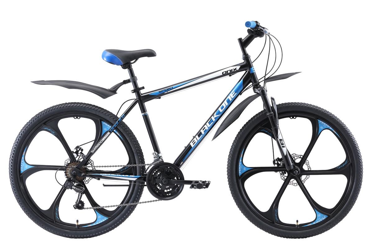 Горный (MTB) BLACK ONE Onix 26 D FW 2019, голубой, серебристый, черный