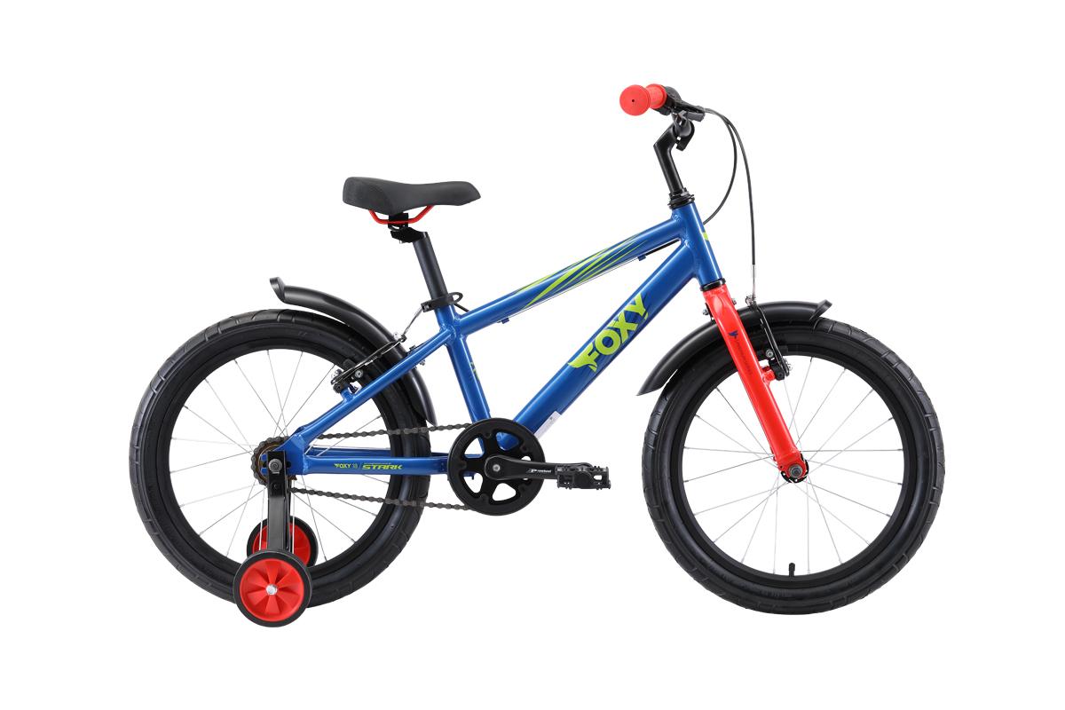 Велосипед STARK Foxy 18 2019, зеленый, красный, синий