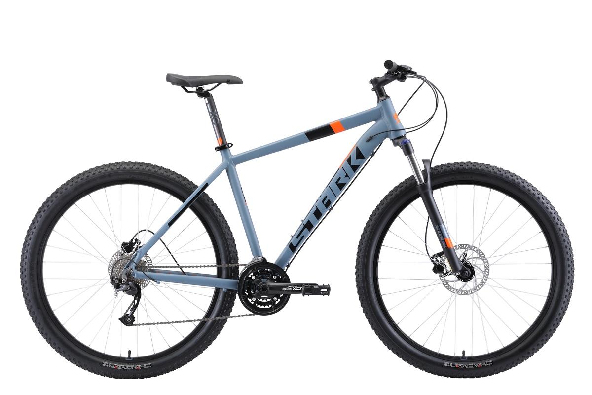 Горный (MTB) STARK Funriser 29.4+ HD 2019, оранжевый, серый, серый металликH000013760Найнеры можно назвать универсальным типом байков, так как в огромной коллекции найдутся подходящие варианты и для простых любителей велопрогулок, и для профессионалов. Велосипед Stark Funriser 29.4+ HD (2019) — образец идеального сочетания хороших скоростных характеристик и максимального комфорта. Выпущен в 2019 году. Колеса 29 дюймов отлично переносят высокие нагрузки. Дисковые гидравлические тормоза хорошо слушаются, что гарантирует успешное выполнение любых маневров. Модель не боится сложных трасс и бездорожья.