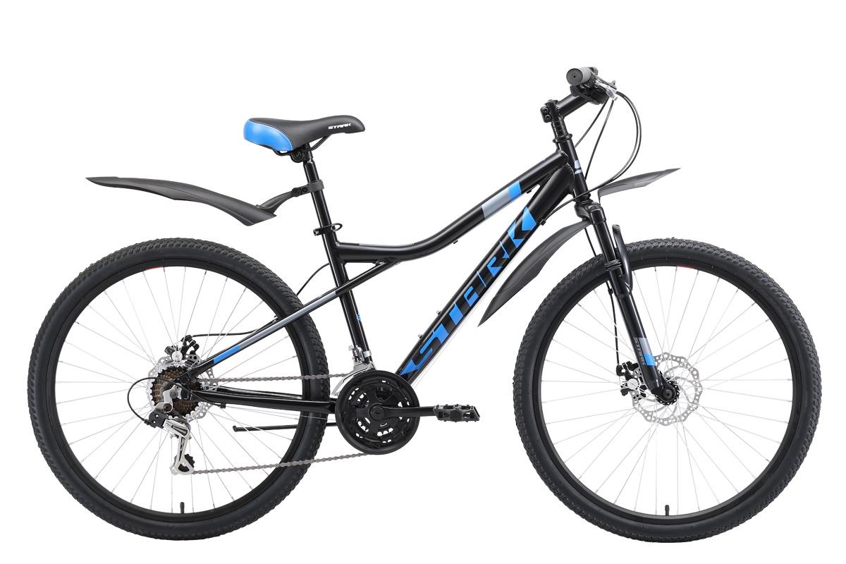 Горный (MTB) STARK Slash 26.1 D 2019, серый, серый металлик, синий, черныйH000014079Велосипед Stark Slash 26.1 D (2019) — маневренная модель с ярким дизайном, надежная, отзывчивая, с прекрасными скоростными характеристиками. Отлично показала себя на разных типах покрытий, поэтому подойдёт и для поездок по городу, и для вылазок на природу. Горный велосипед 2019 года, имеющий колеса 26 #40;стандарт#41;, легко управляется, и для разгона ему не требуется много времени. Дисковые механические тормоза гарантируют высокую степень безопасности и успешное совершение любых маневров даже на сложных участках пути. Колеса диаметром 26 дюймов и прочная рама позволяют байку выглядеть внушительно и солидно.