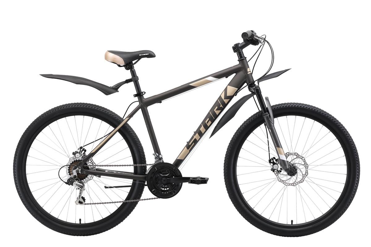 Горный (MTB) STARK Tank 27.1 D 2019, белый, коричневый, кремовый велосипед stark tank 27 1 d 2019