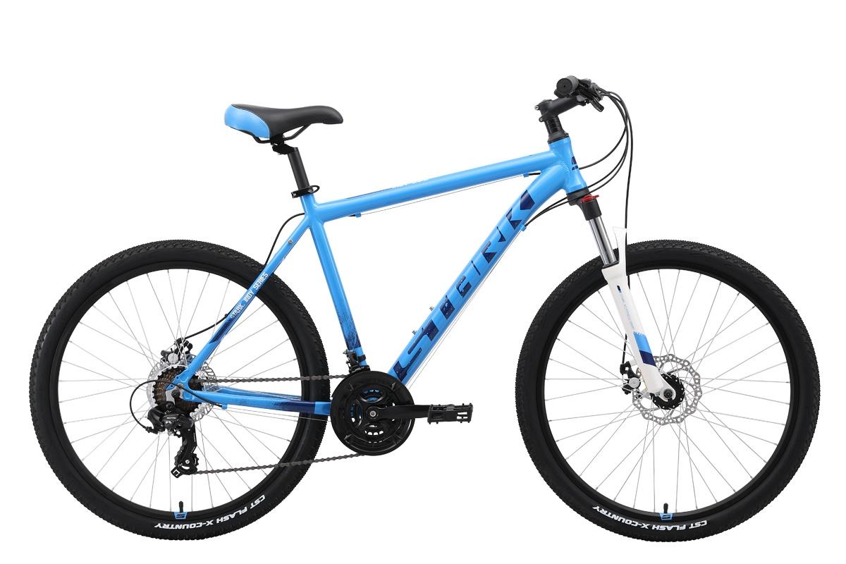 Горный (MTB) STARK Indy 26.2 D 2019, белый, голубой, синий велосипед stark tank 27 1 d 2019