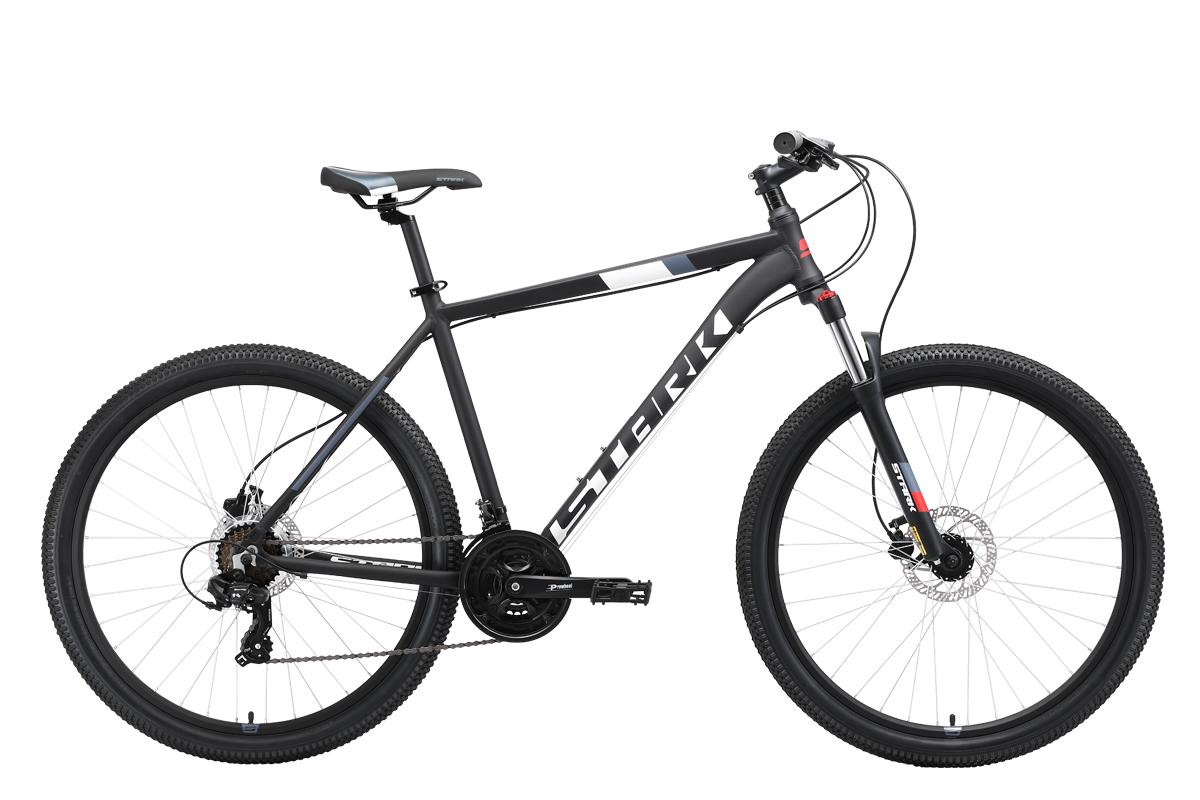 Горный (MTB) STARK Hunter 27.2 HD 2019, белый, красный, серый, серый металлик, черный