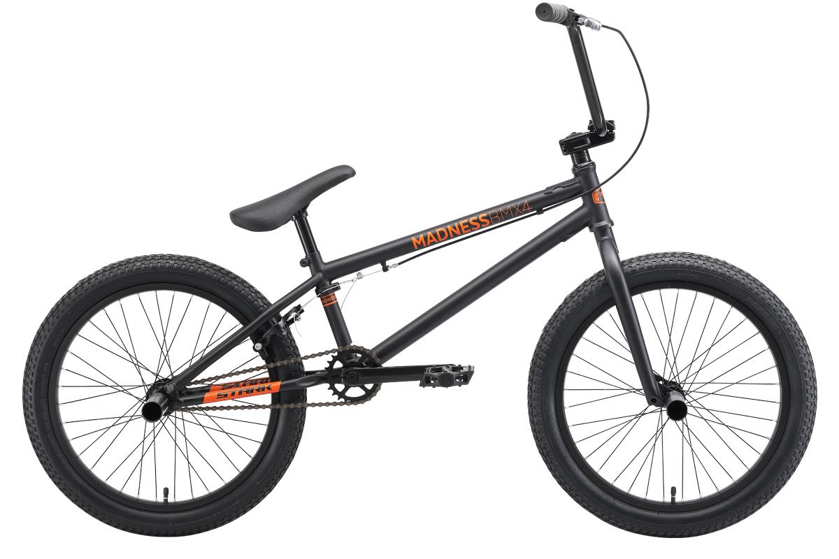 Велосипед STARK Madness BMX 4 2019, оранжевый, черный велосипед stark shooter 4 2015