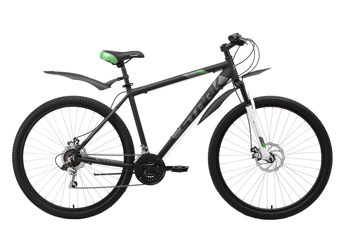 Горный (MTB) STARK Tank 29.1 D 2019, зеленый, серый, серый металлик, черный велосипед stark tank 27 1 d 2019
