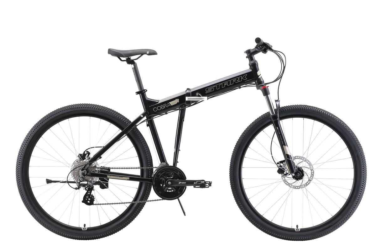 Складной STARK Cobra 29.3 HD 2019, серый, серый металлик, черныйH000014097Велосипед Stark Cobra 29.3 HD (2019) — современный байк, который придется по вкусу любителю активного отдыха. Модель 2019 года отлично справляется с разными дорожными покрытиями и стилями езды, характеризуется великолепной управляемостью и маневренностью. Выдающаяся проходимость за счет колёс диаметром 29 дюймов и продуманного оснащения обеспечивает возможность катания даже по сложному рельефу. Дисковые гидравлические тормоза демонстрируют быстрый отклик и являются залогом безопасности при совершении маневров.