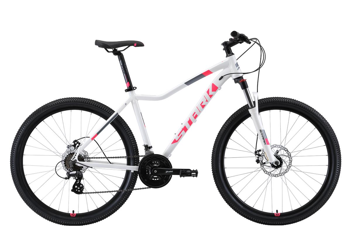 Женский велосипед STARK Viva 27.3 D 2019, белый, розовый, черный велосипед stark tank 27 1 d 2019