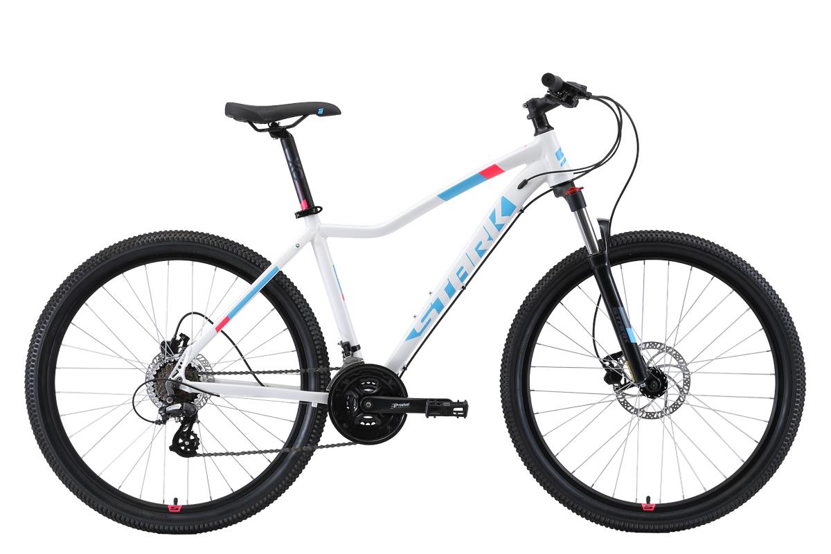 Женский велосипед STARK Viva 27.3 HD 2019, белый, голубой, розовый велосипед stark shooter 2 2018