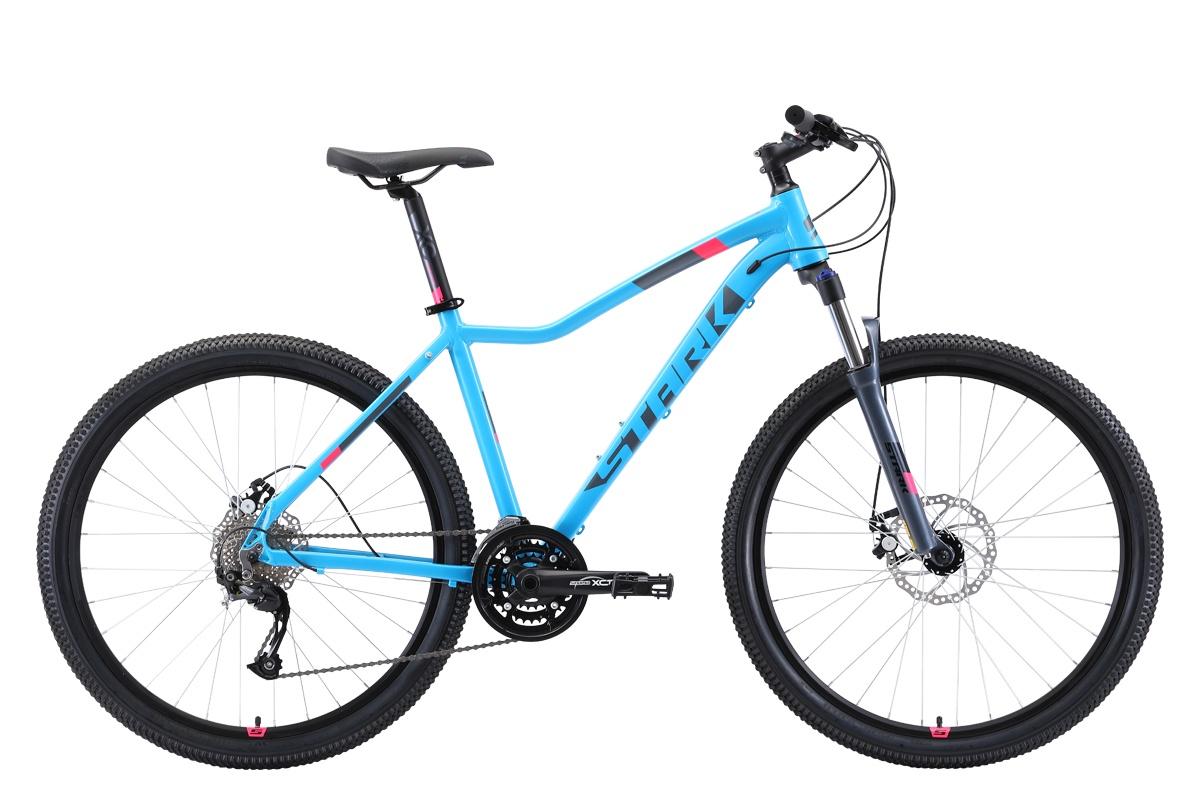 Женский велосипед STARK Viva 27.4 D 2019, голубой, розовый, серый, серый металлик велосипед stark viva 27 4 hd 2019