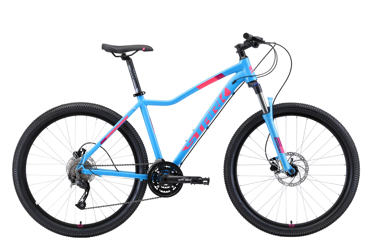 Женский велосипед STARK Viva 27.4 HD 2019, белый, голубой, розовый