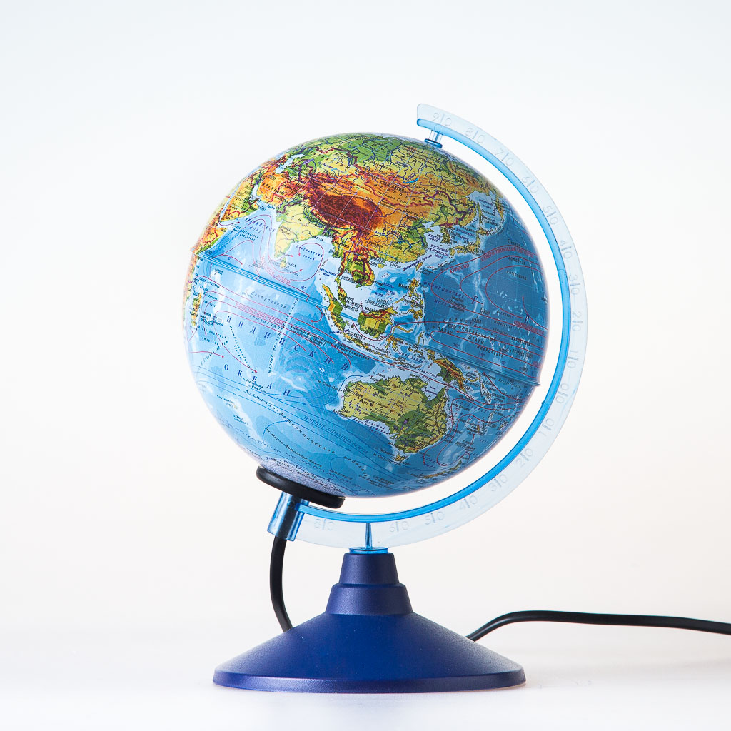 Глобус Globen Земли физический, с подсветкой диаметр 150 мм все цены