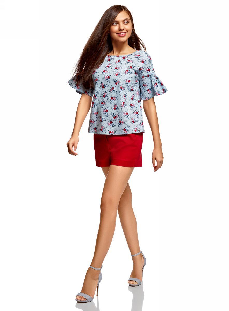 Фото - Блузка oodji блузка в горошек с воланами на рукавах 3 12 лет