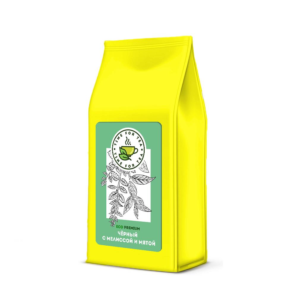 Чай листовой Время Чая с Мелиссой и мятой, 250 чай листовой время чая клубничный eco premium 250