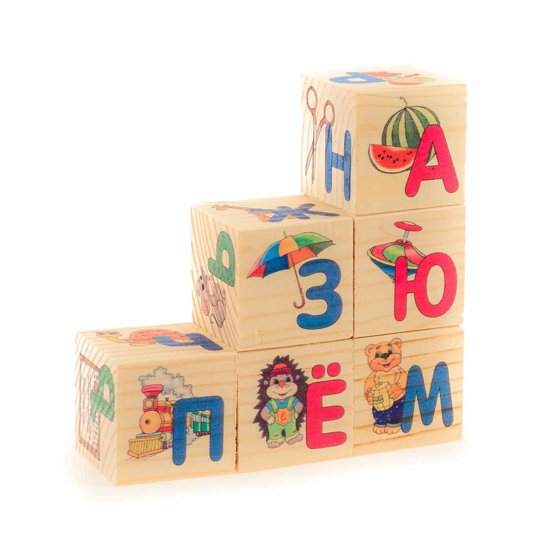 Фото - Деревянные кубики АНДАНТЕ АЗБУКА развивающие деревянные игрушки кубики фрукты