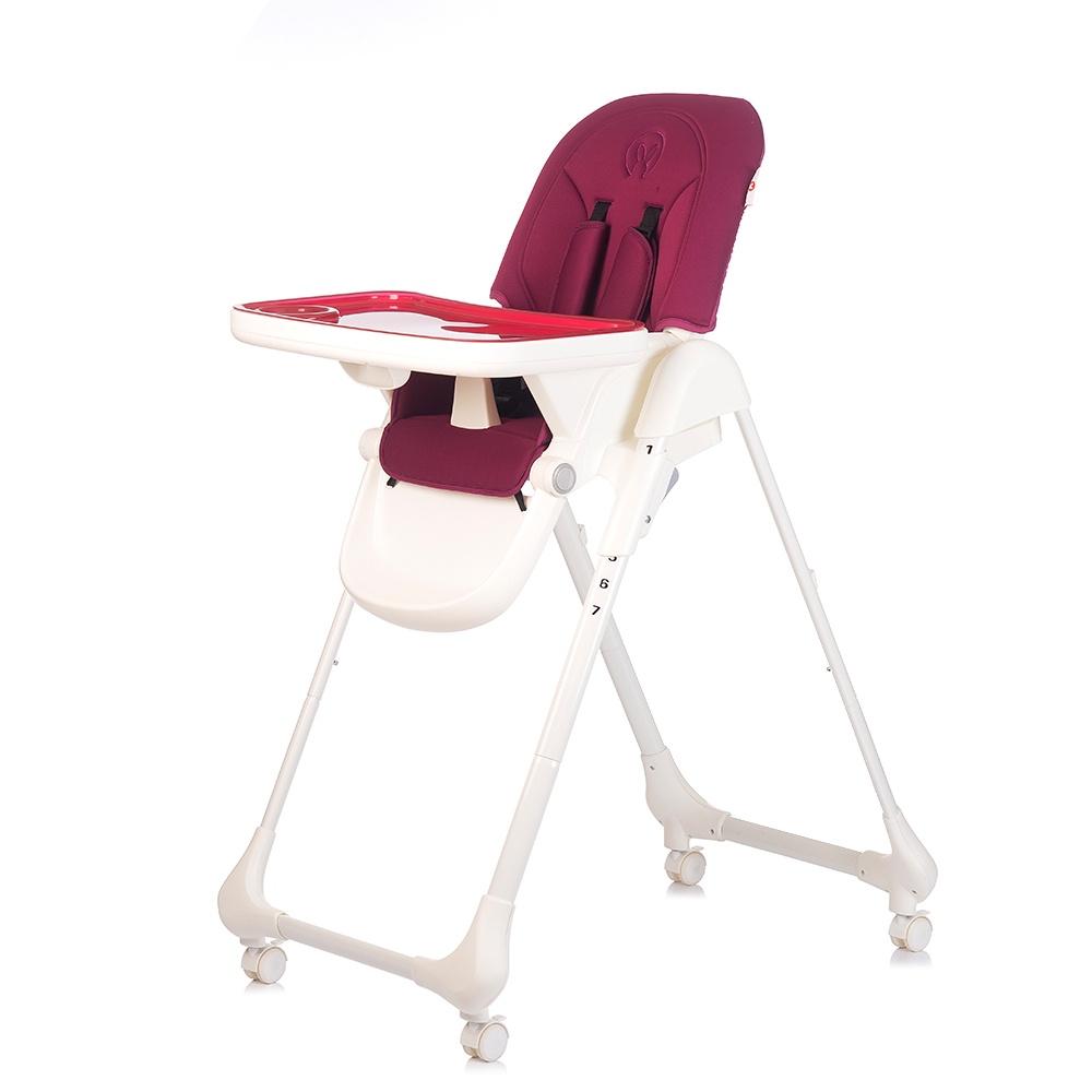 Стульчик для кормления Babyhit LUNCH TIME бордовый стульчик для кормления babyhit miracle цвет голубой