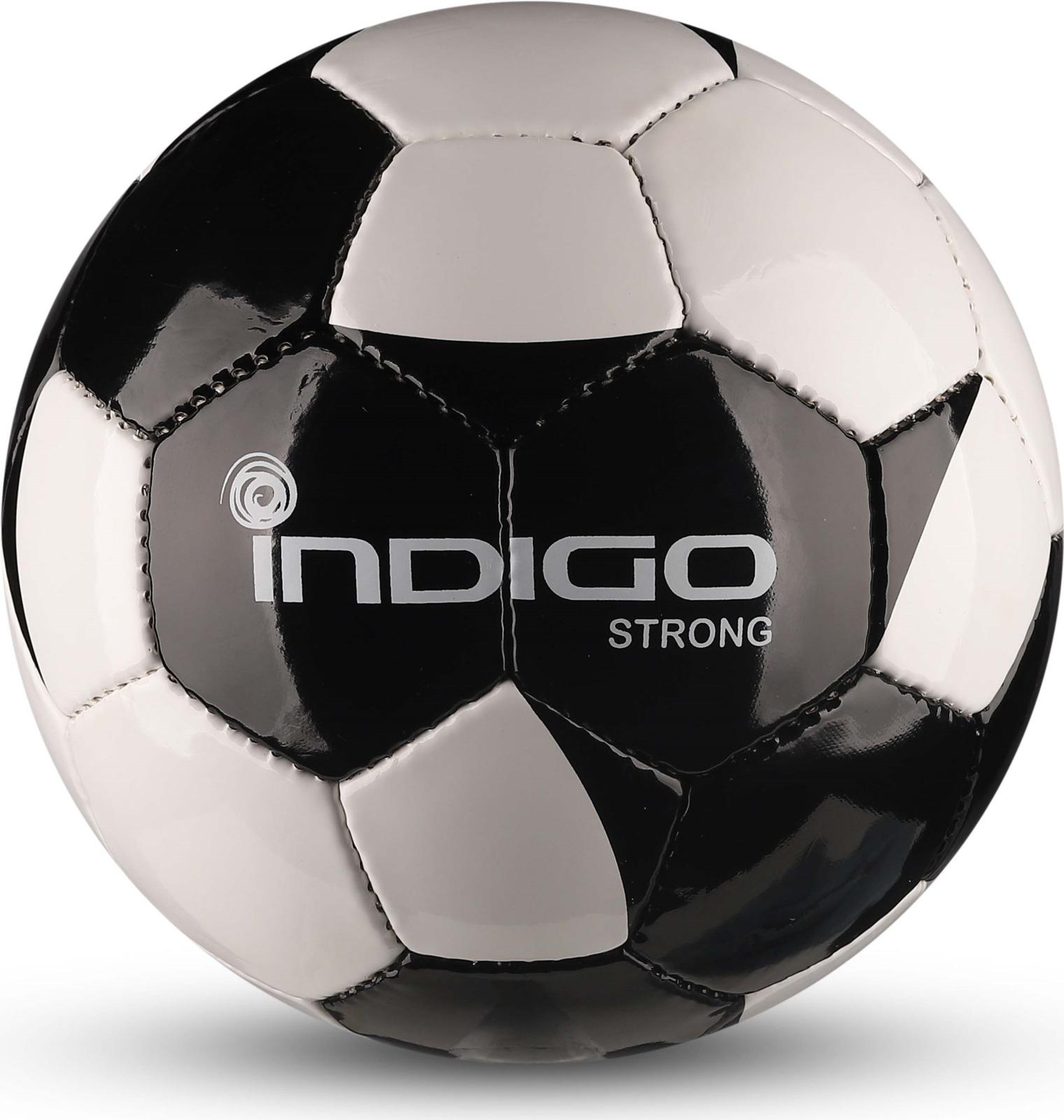 Мяч футбольный Indigo Strong, IN033, белый, черный, размер 4 мяч футбольный indigo rain in031 белый синий желтый размер 3