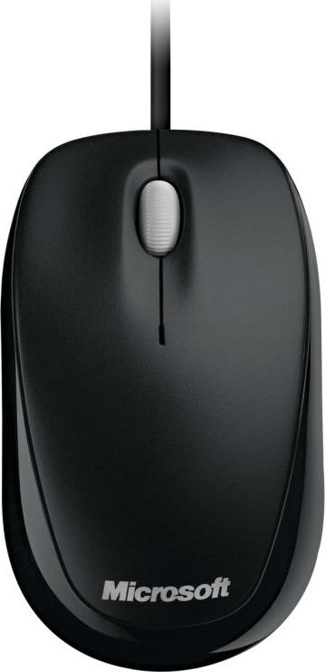 Мышь Microsoft Compact 500, оптическая, черный цена