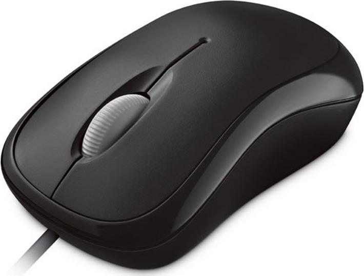 Мышь Microsoft Basic, оптическая, черный