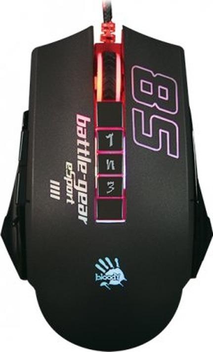 лучшая цена Мышь игровая оптическая A4Tech Bloody P85 Sport, A4TECH P85, черный