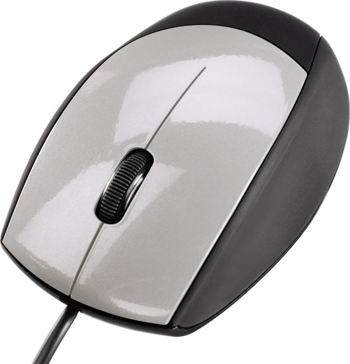 Мышь Hama, 00052388, черный, серебристый