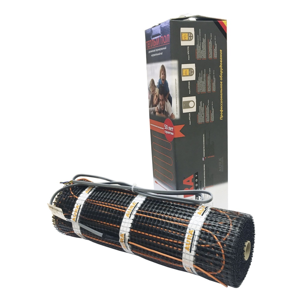 Комплект Теплый пол AURA MTA 450-3.0 тёплый пол нагревательный мат devi 450 вт 3 м2
