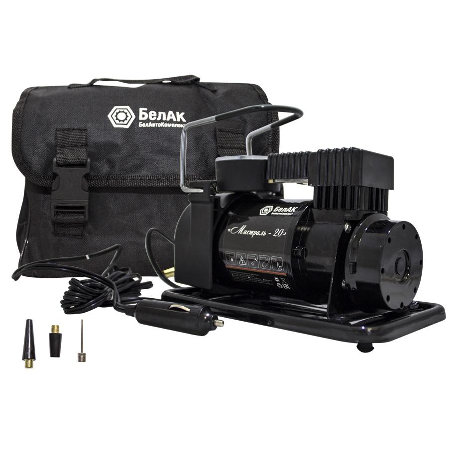 Автомобильный компрессор БелАвтоКомплект / БелАК Мистраль - 20, черный