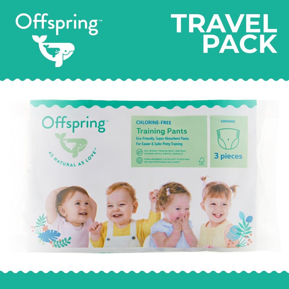 трусики-подгузники,  9555854600476 Offspring, Travel pack, M 6-11 кг. 3 шт. 3 расцветки 6
