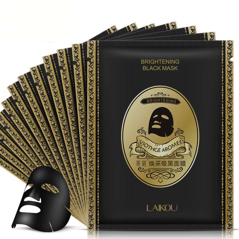 Маска косметическая Laikou набор очищающих масок для лица с бамбуковым углем, 12 штук, 25