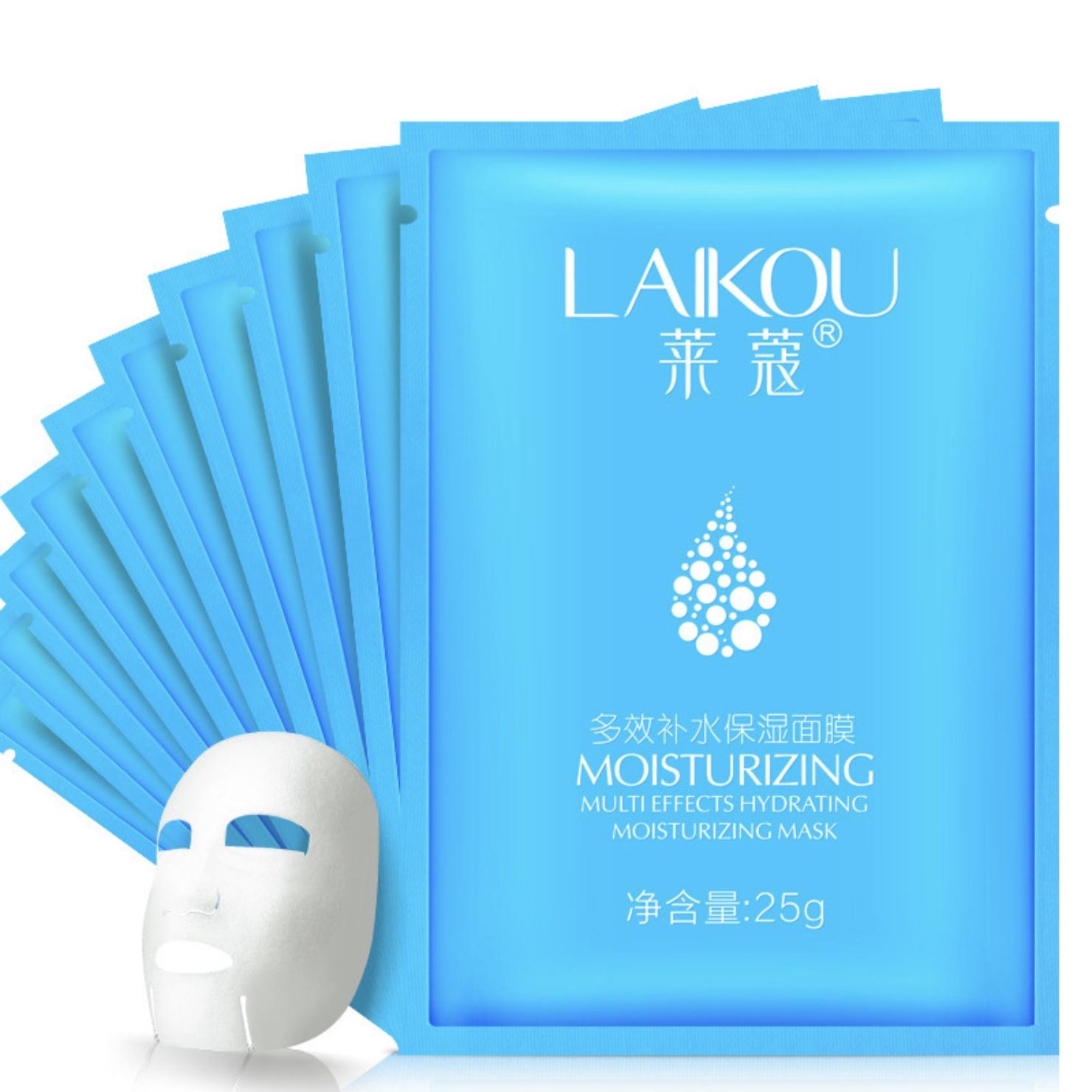 Маска косметическая Laikou набор масок для лица с гиалуроновой кислотой для всех типов кожи, 10 штук, 30