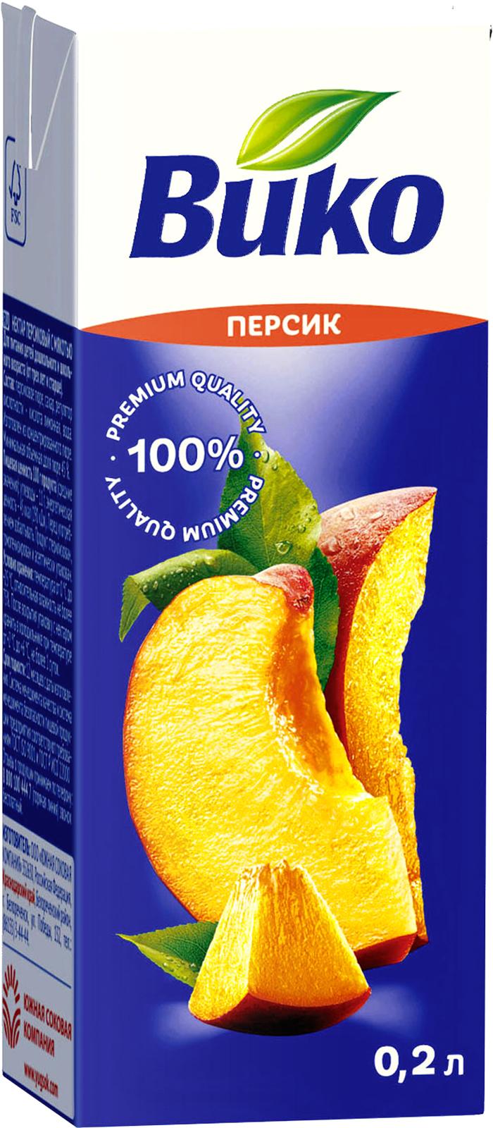 Нектар Вико персиковый с мякотью 200 мл