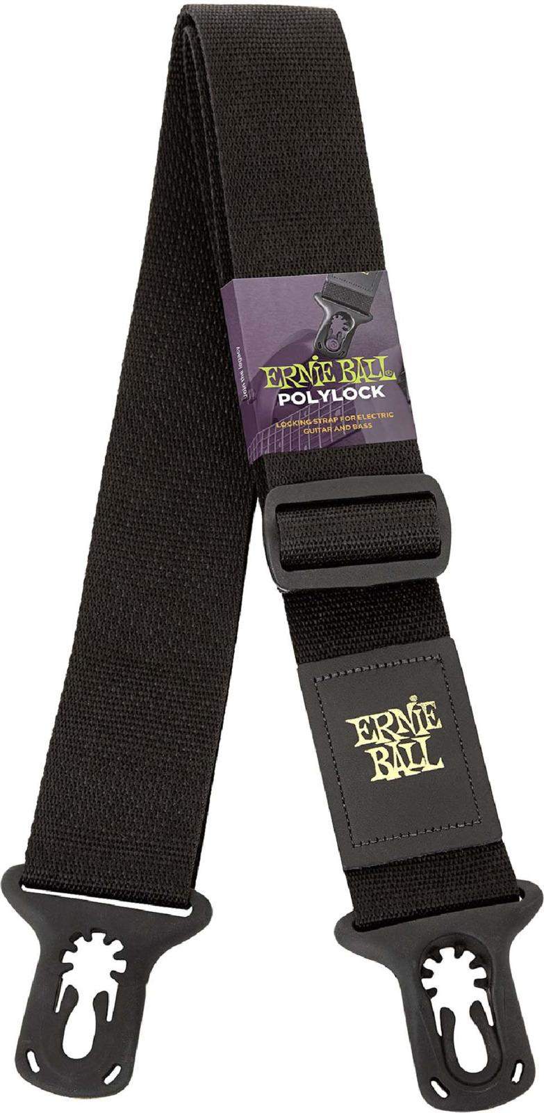 Ремень для гитары Ernie Ball, с защелкой, P04056, черный цена