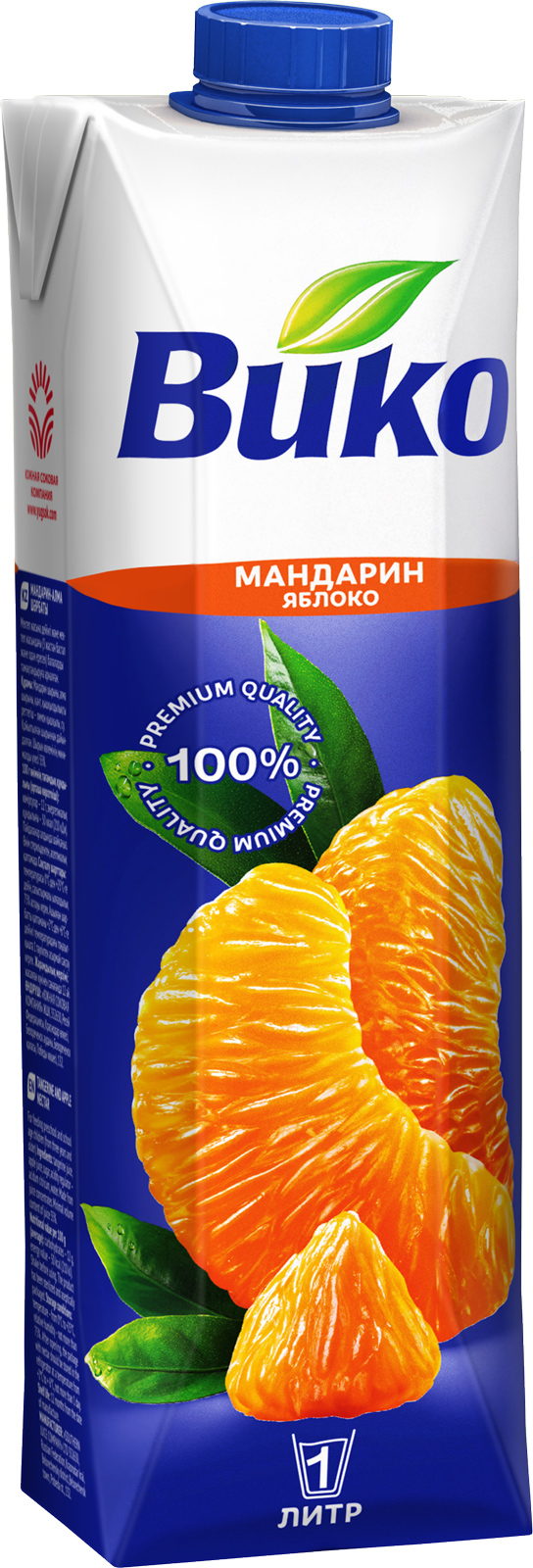 Нектар Вико мандариново-яблочный,1 л