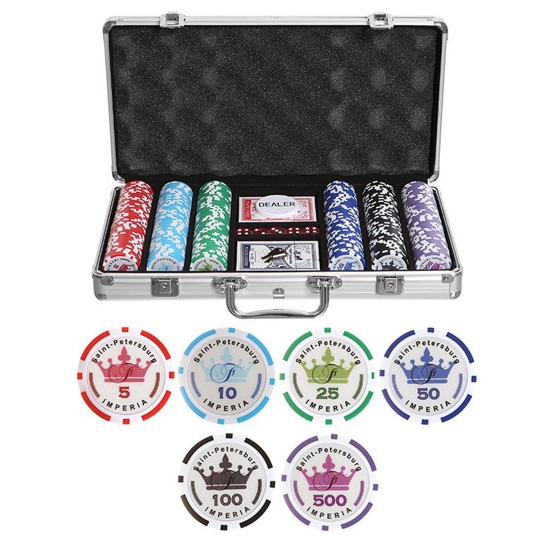 Набор для покера Partida Empire на 300 фишек 500 5000 500