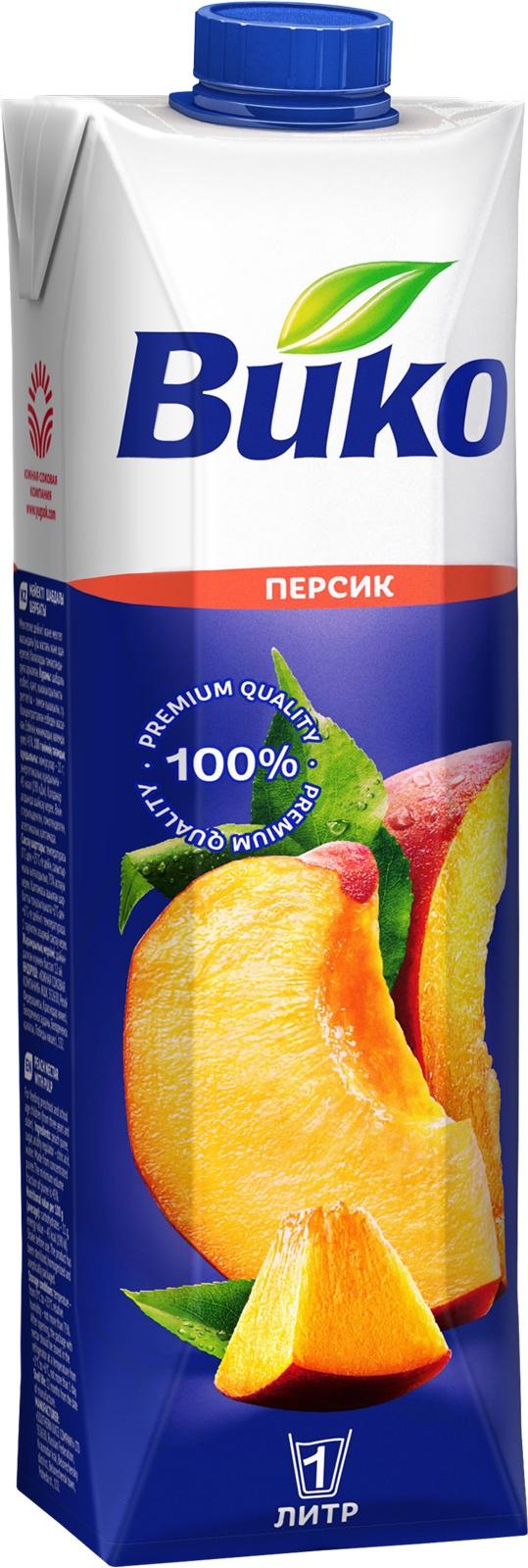 Нектар Вико персиковый с мякотью 1 л менк персиковый нектар 1 л