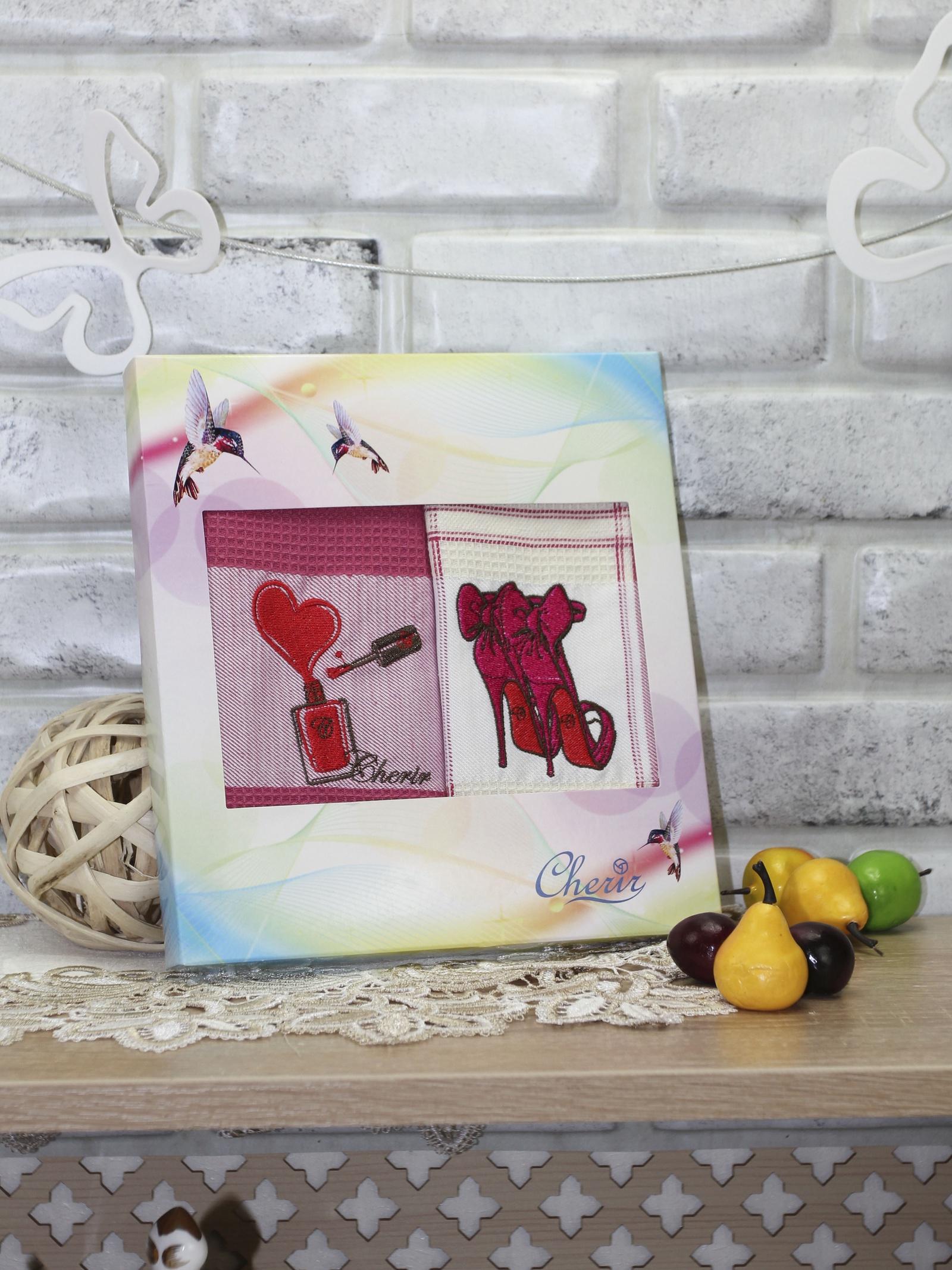 Комплект для кухни Cherir Набор полотенец, 4213062, красный4213062-3