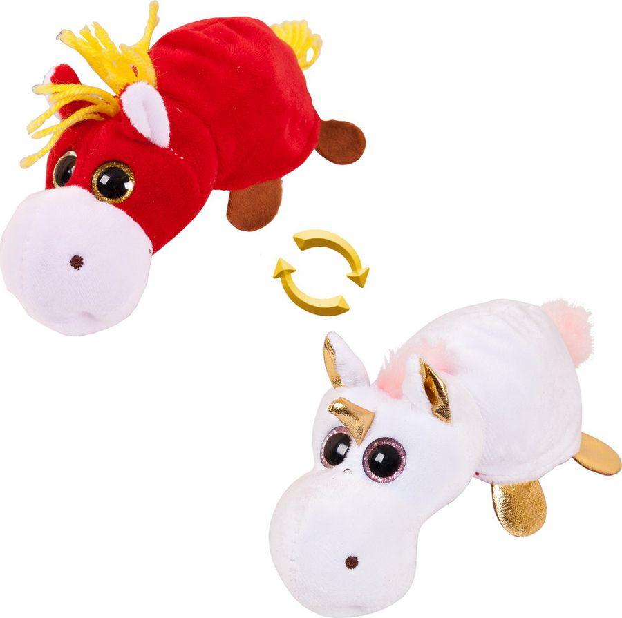 Мягкая игрушка ABtoys Перевертыши Лошадка Единорог 16 см, M5016 игрушки для детей единорог