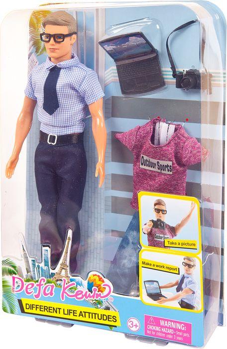 Кукла Defa Toys Юноша со сменной одеждой Фотограф офисный работник, 8385d, в ассортименте