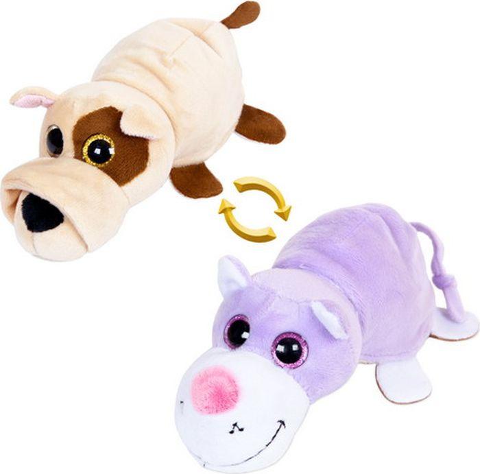 Мягкая игрушка ABtoys Перевертыши Собака Кот 16 см, M5003 мягкие игрушки lapa house собака сумка 24 см