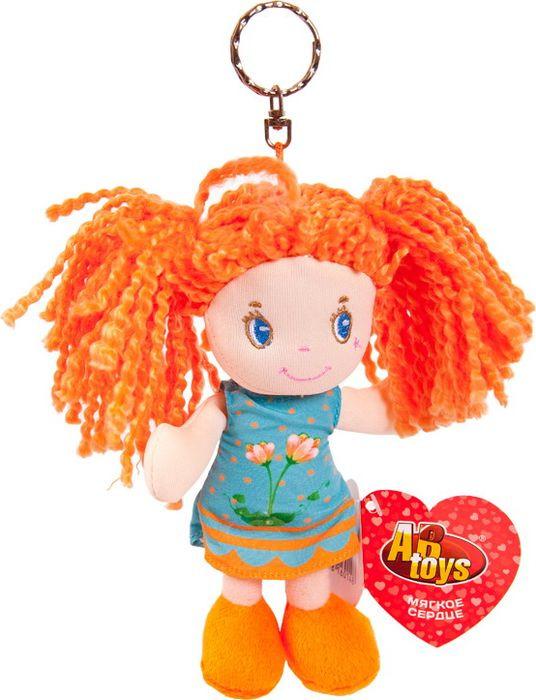 Кукла ABtoys Рыжая в голубом платье на брелке, M6007 кукла teddy рыжая 36 см m6022