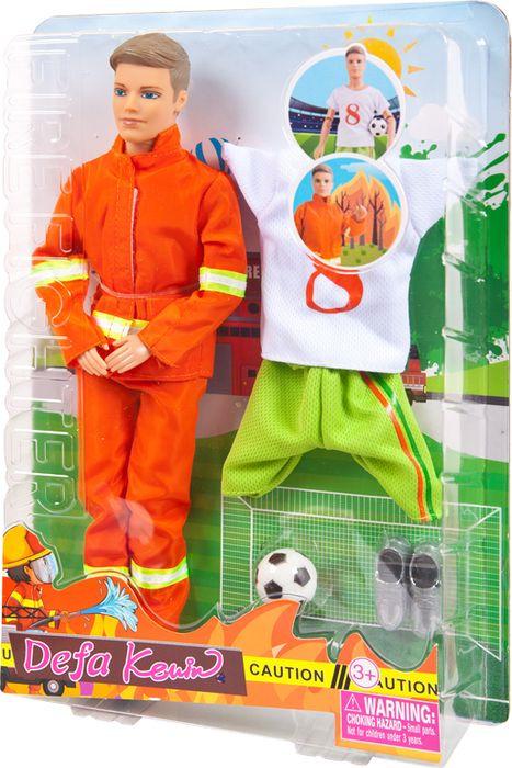 Кукла Defa Toys Юноша со сменной одеждой Пожарный и футболист, 8382d, в ассортименте цена