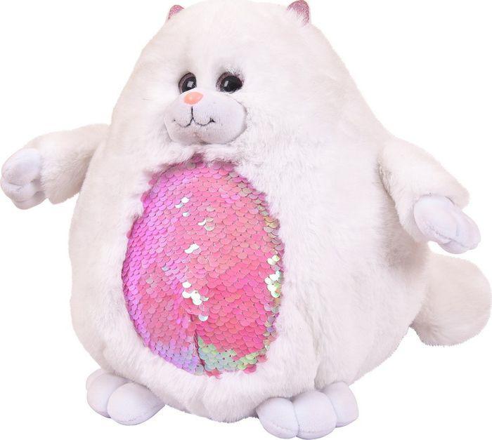 Мягкая игрушка ABtoys Кошка с пайетками 20 см, MP013 мягкая игрушка abtoys свинка пушистая 16 см 19758
