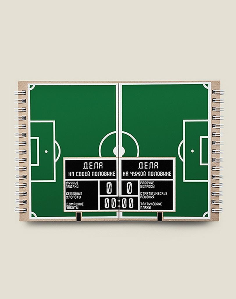 Блокнот Бюро находок Футбольное поле, 94 рюмка бюро находок сними напряжение цвет прозрачный