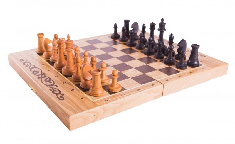 Набор настольных игр WoodGames Шахматы + Шашки + Нарды 40мм, дуб набор настольных игр madon шахматы шашки кинг 34