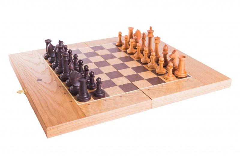 Набор настольных игр WoodGames Шахматы + Шашки + Нарды 45мм, дуб набор настольных игр madon шахматы шашки кинг 34
