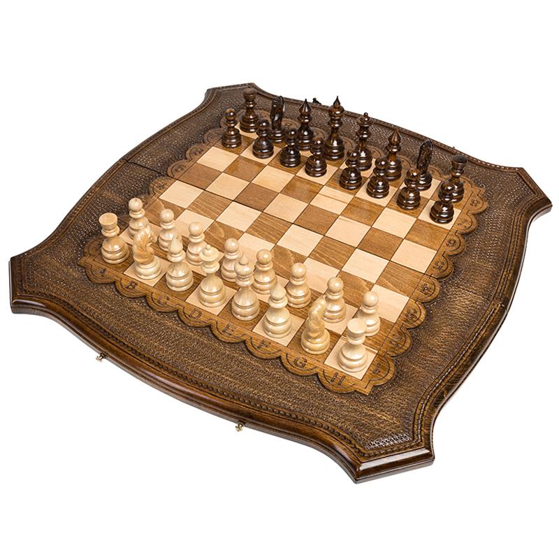 Набор настольных игр Ohanyan Шахматы + Нарды резные Роял 60 набор настольных игр haleyan стол ломберный шахматы