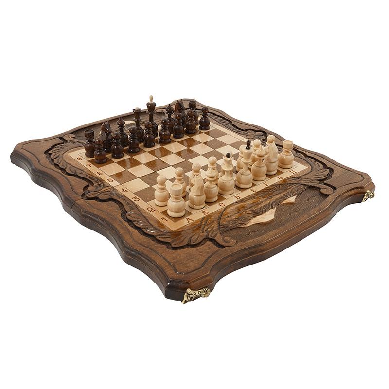Набор настольных игр Haleyan Шахматы + Нарды резные c Араратом 40 набор настольных игр haleyan стол ломберный шахматы