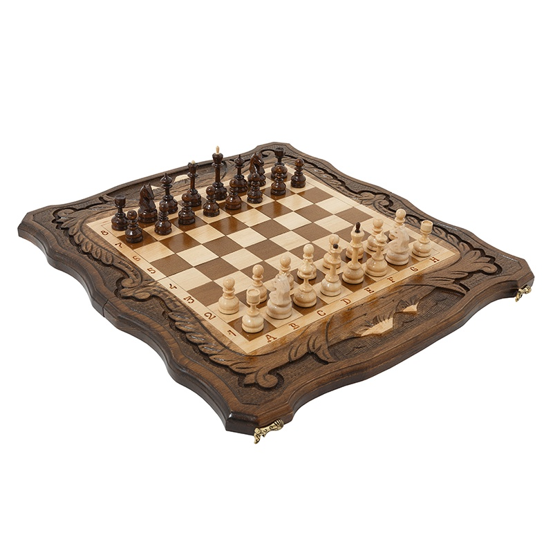 Набор настольных игр Haleyan Шахматы + Нарды резные c Араратом 50 набор настольных игр haleyan стол ломберный шахматы